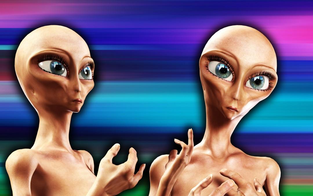 pair of aliens